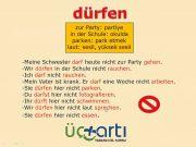Almanca A1 Sınavına Hazırlık Dersi dürfen Fiili Kullanımı