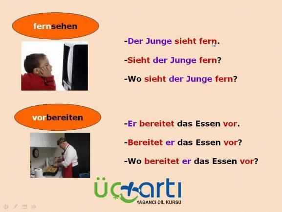 Almanca Ayrılabilen Fiiller ve Cümlede Kullanılışları