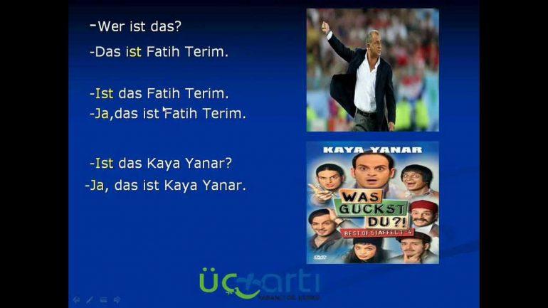 Almanca Cümle Kurma Alıştırmaları Video Ders