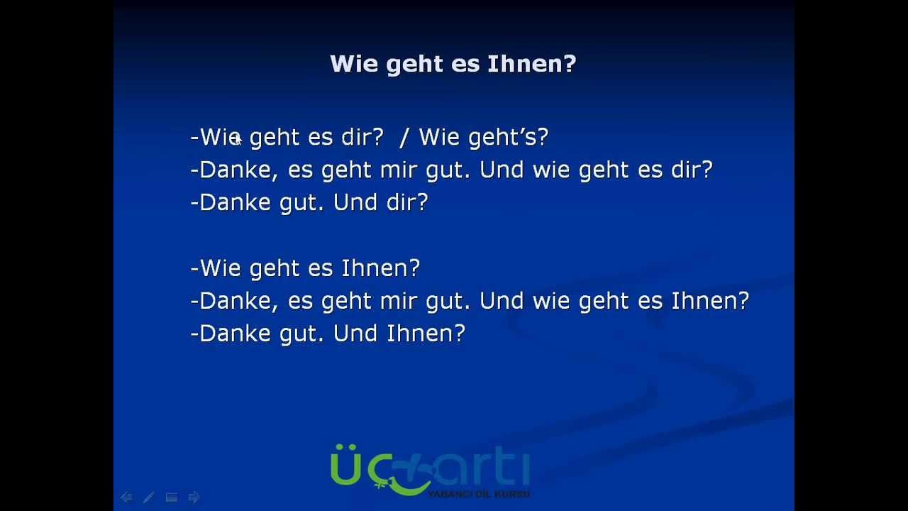 Almanca Cümle Kurma Çalışmaları Video Ders