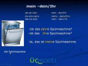 Almanca Dein Mein İyelik Zamirleri Video Ders