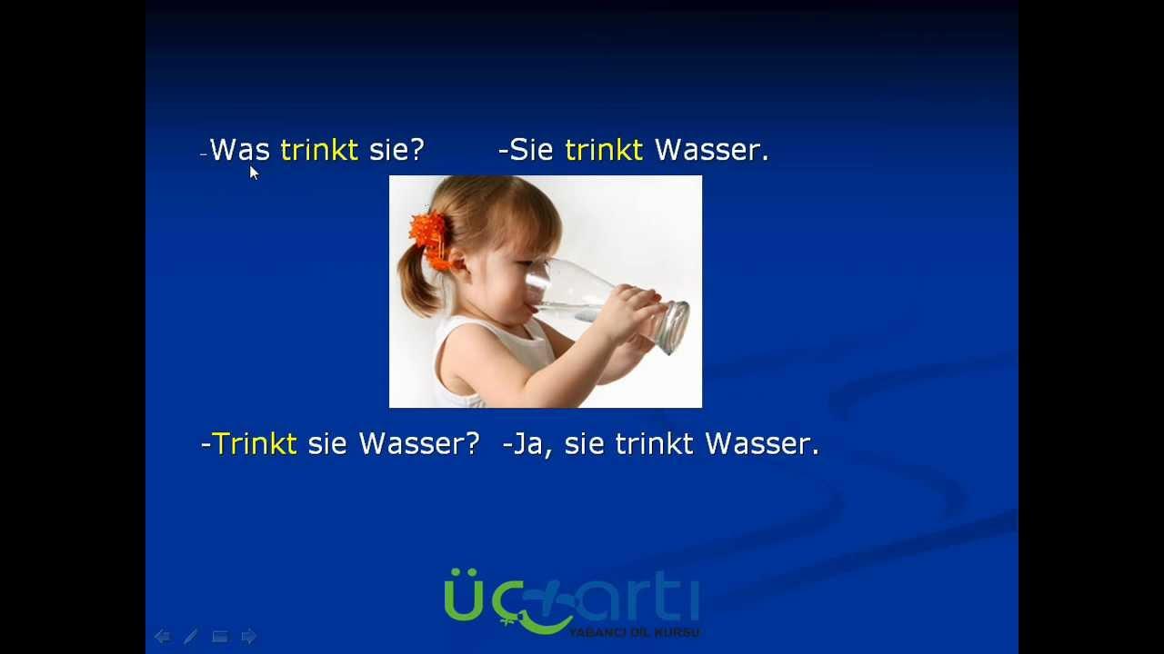 Almanca Fiil Çekimleri Video Dersi