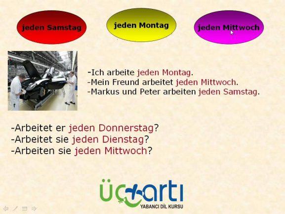 Almanca Günler, Almanca Aylar ve Almanca Mevsimler