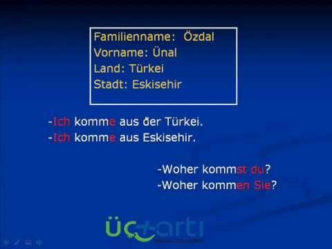Almanca Kendini Tanıtma, Almanca Tanışma ve Selamlaşma (Video Ders)