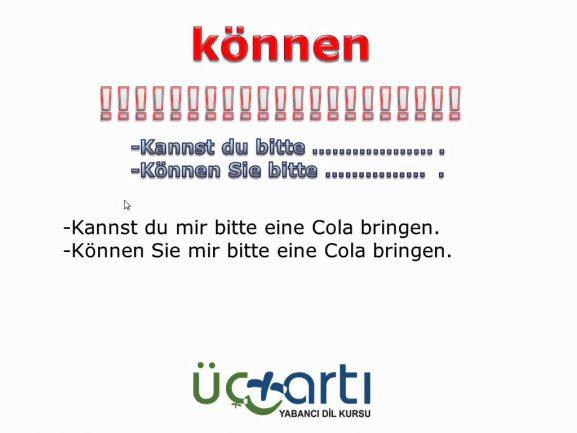 Almanca können Fiili A1 Sınavına Hazırlık Dersi