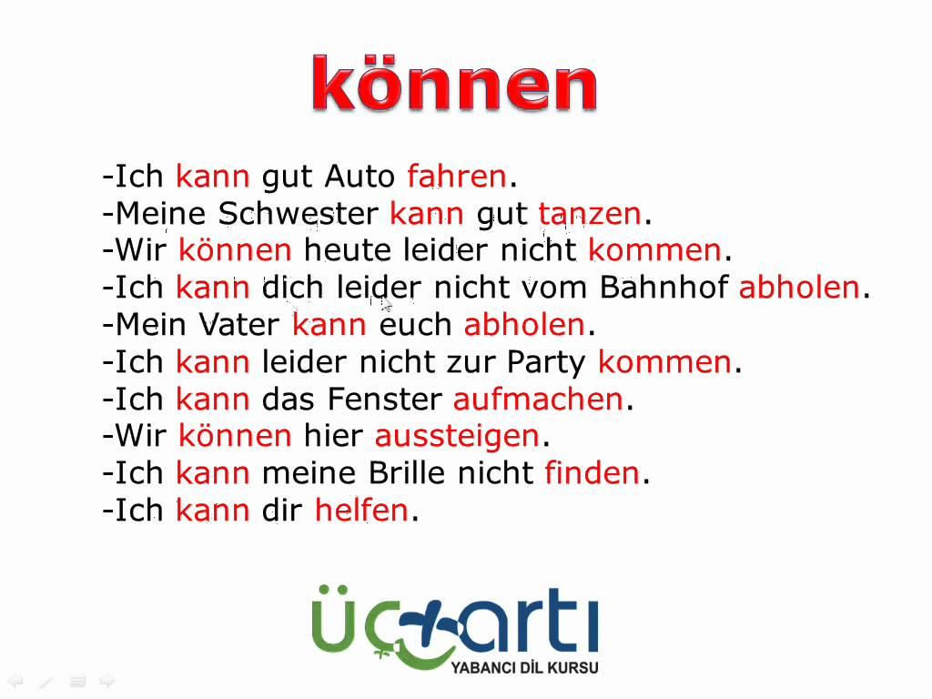 Almanca können Fiili ve Kullanımı Modalverben Video Ders