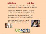 Almanca Mit İlgeci (Bağlacı), Almanca ile Bağlacı