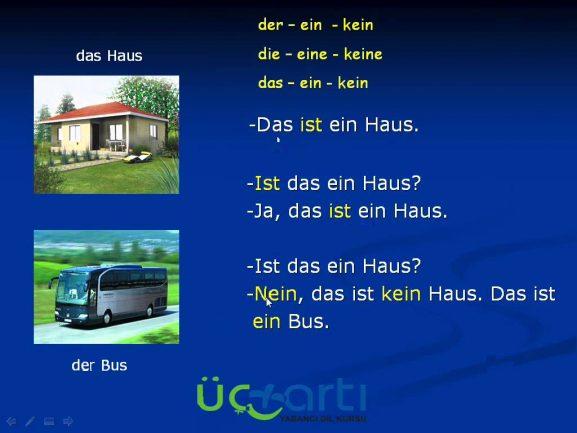 Almanca Olumsuz Artikeller Kein ve Keine