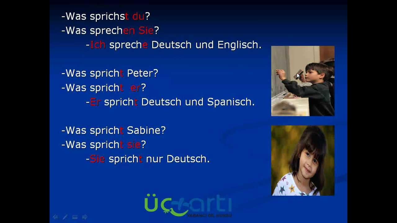 Almanca Şahıs Zamirleri Er Sie Es