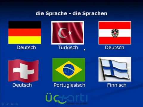 Almanca Ülkeler, Diller ve Bayraklar