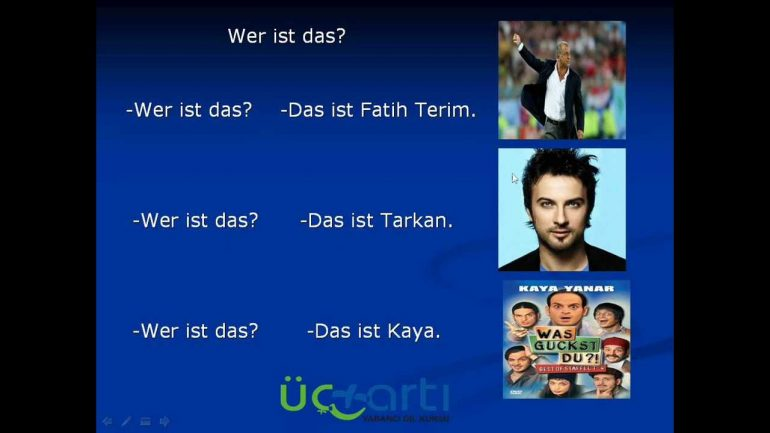 Almanca Wer Ist Das, Bu Kimdir? Video Ders