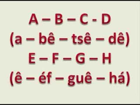 Harika Bir Almanca Alfabesi Şarkısı, Das deutsche Alphabet