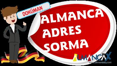 Almanca Adres Sorma ve Adres Tarif Etme