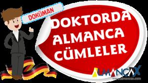 German Tıpta Doktorda Words used in hospital Cümleler