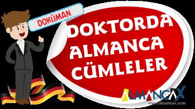 Almanca Tıpta Doktorda Hastanede Kullanılan Kelimeler Cümleler