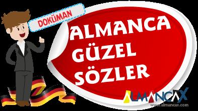 Almanca Güzel Sözler, Almanca Hazır Aşk Mesajları