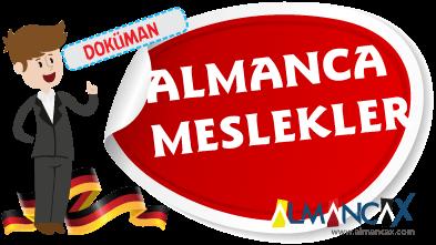 Türkçe Almanca Meslekler 2