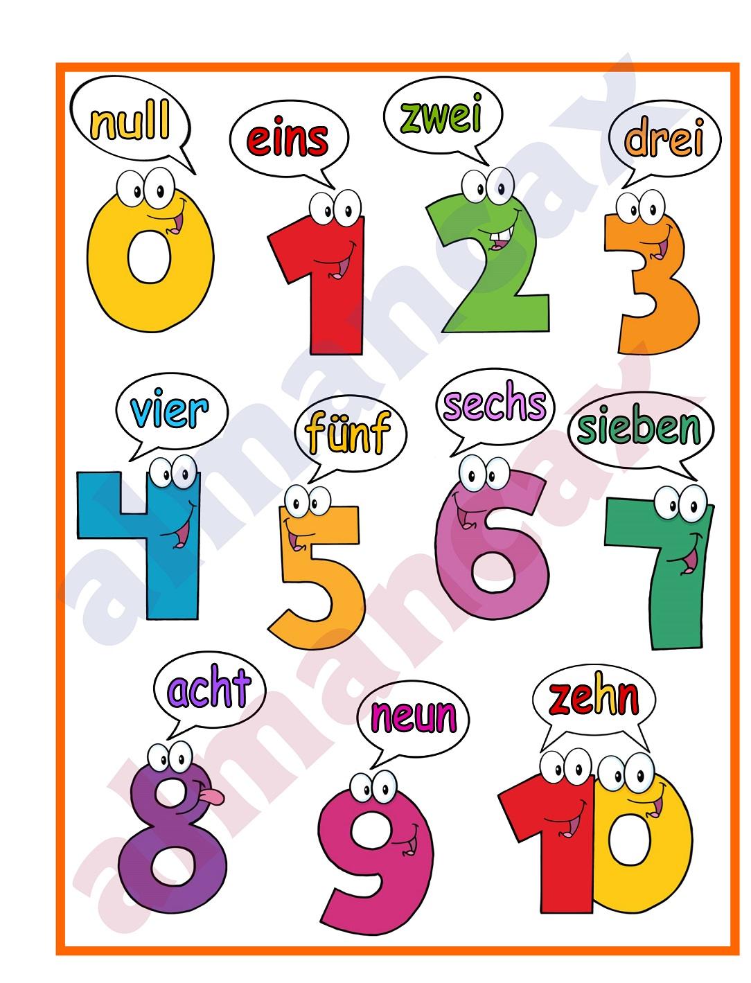 numéros em alemão