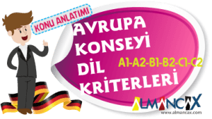 Avrupa Konseyi Ortak Dil Kriterleri  (A1-A2-B1-B2-C1-C2)