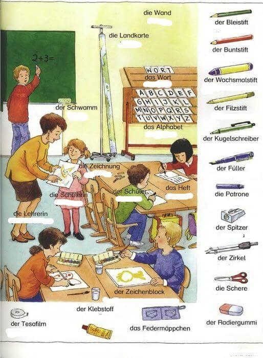 Almanca okulumuz sınıf eşyaları