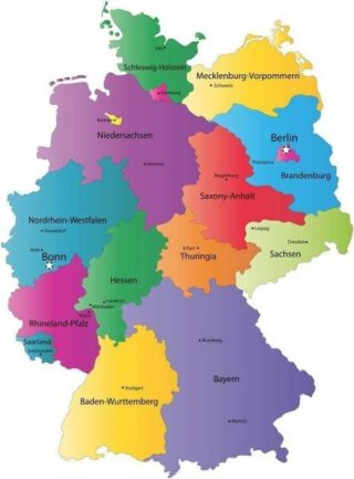 Вилоятҳои Олмон - Deutschland Bundesländer